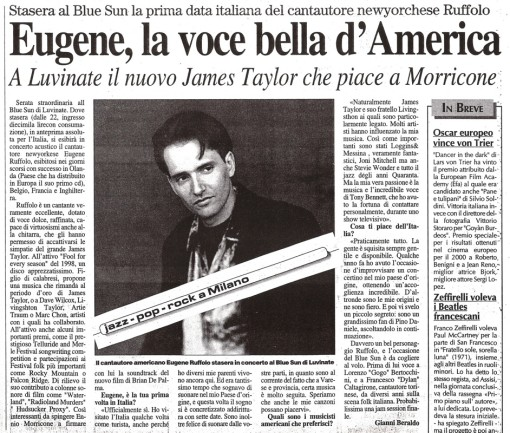 Milano Newspaper review--concert--RE