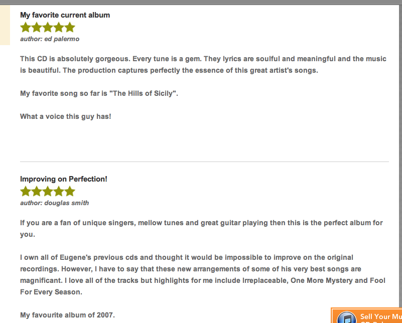 "cd baby ""In a different Light""  fan reviews"